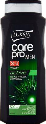 Luksja Care Pro Men 2in1 Sensitive Żel pod prysznic z aloesem i prowitaminą B5