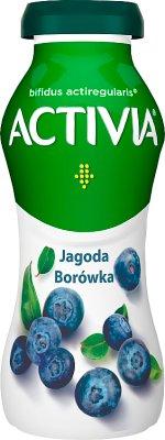 Danone Activia jogurt do picia jagoda borówka amerykańska