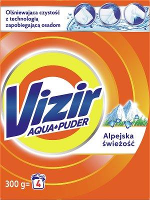 Vizir lavage poudre tissus blancs et des couleurs vives Alpine fraîches