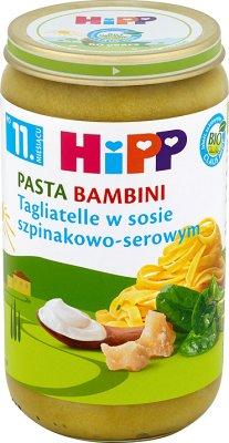 Tagliatelle w sosie szpinakowo-serowym BIO