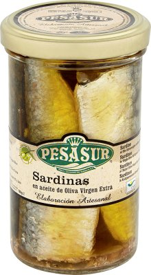 Pesasur dzikie sardynki w ekologicznej oliwie z oliwek extra virgin EKOLOGICZNE