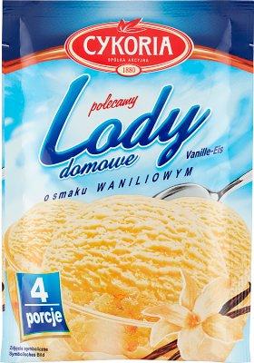 Cykoria Lody domowe  o smaku waniliowym