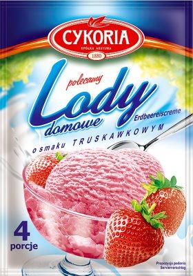 Chicorée crème glacée maison avec saveur de fraise