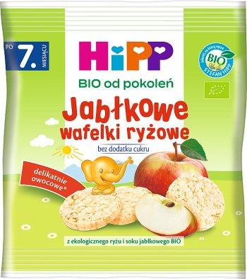 HiPP Jabłkowe wafelki ryżowe z ekologicznego ryżu i soku jabłkowego
