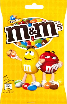 M & M de cacahuete cacahuetes cubiertos de chocolate con cáscara colorido