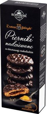 Kopernik Z serca fabryki Pierniki nadziewane w deserowej czekoladzie smak morelowy