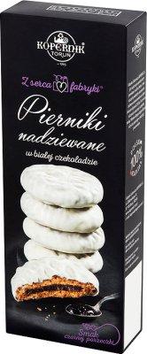 Kopernik Z serca fabryki Pierniki nadziewane w białej czekoladzie smak czarnej porzeczki