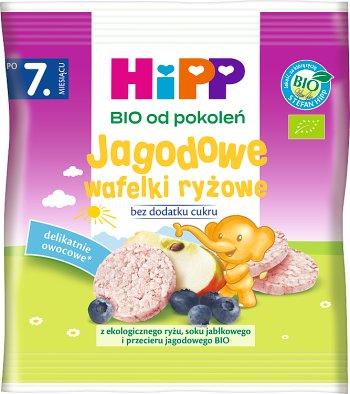 HiPP Jagodowe wafelki ryżowe BIO dla niemowląt