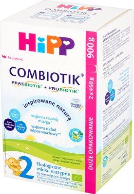 HiPP BIO Combiotik 2 Ekologiczne mleko następne dla niemowląt po 6. miesiącu 900 g (2 x 450 g)