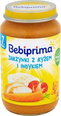 Bebiprima Jarzynki avec du riz et de la dinde