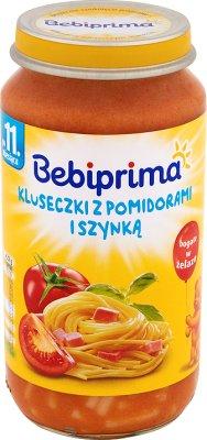 Bebiprima Kluseczki z pomidorami i szynką