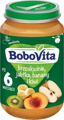 BoboVita deserek brzoskwinie, jabłka, banany i kiwi