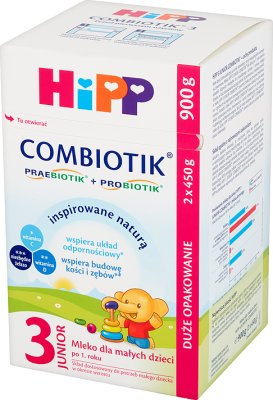 HiPP Junior Combiotik 3 Mleko dla małych dzieci po 1. roku 900 g (2 x 450 g)