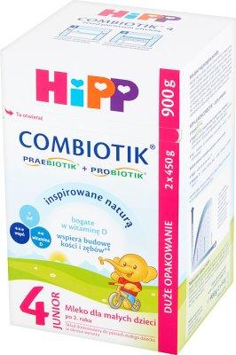 HiPP Junior Combiotik 4 Mleko dla małych dzieci po 2. roku 900 g (2 sztuki)