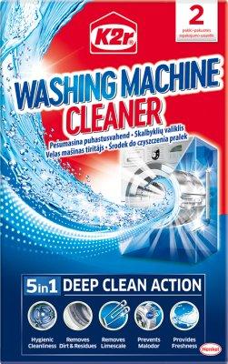 K2r Środek do czyszczenia pralek 3 w1 2x75g