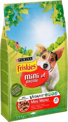 Friskies Mini Menu Pełnoporcjowa karma dla dorosłych psów z wołowiną