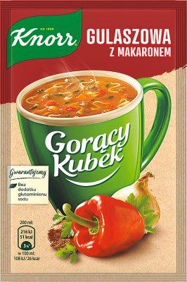 Knorr Gorący Kubek Gulaszowa z makaronem
