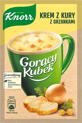 Knorr Горячая кружка Крем куриный суп с гренками