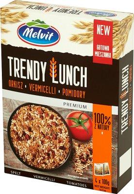 Melvit Trendy Lunch Mieszanka orkisz, vermicelli, suszone pomidory 4x100g