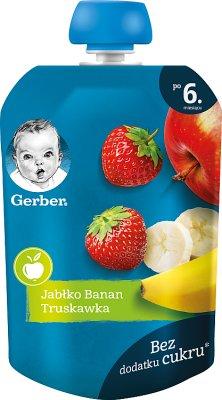 Gerber Deser w tubce jabłko banan truskawka