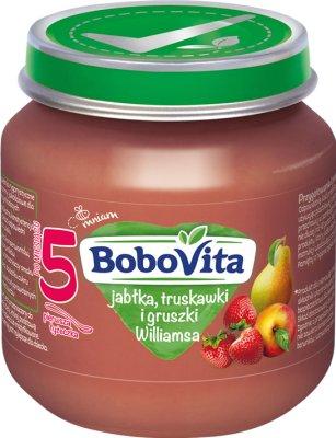 BoboVita deserek jabłka, truskawki i gruszki Williamsa
