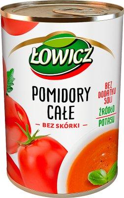 Łowicz Pomidory całe bez skórki