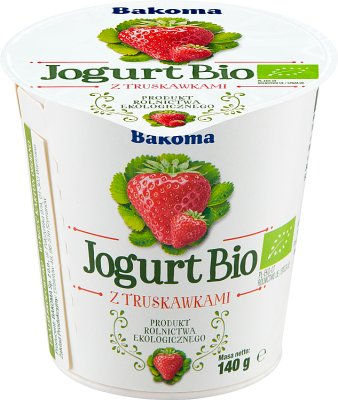 Bakoma Jogurt BIO truskawka