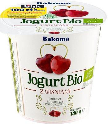 Bakoma Yogurt BIO cherry