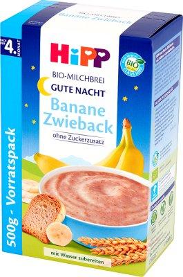 Kaszka mleczno-zbożowa Banany z sucharkami BIO