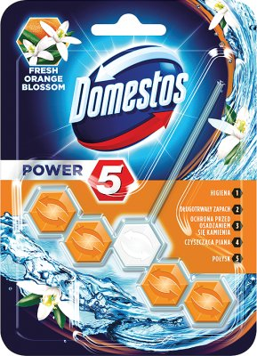 Domestos WC Power 5 pendant with bone Fresh Orange Blossom