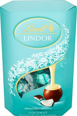 Lindt Lindor Coconut Pralinki z czekolady z nadzieniem