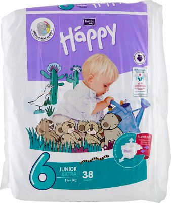 Bella Baby Happy Pieluchy  Junior Extra (6) 16+ kg