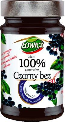 Łowicz Dżem 100% z owoców Czarny bez