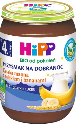 Kaszka manna z mlekiem i bananami BIO
