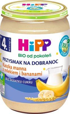 HiPP Kaszka manna z mlekiem i bananami BIO