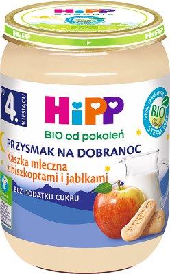 HiPP Kaszka mleczna z biszkoptami i jabłkami BIO