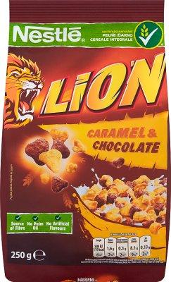 Nestlé Lion Płatki śniadaniowe z czekoladą i karmelem