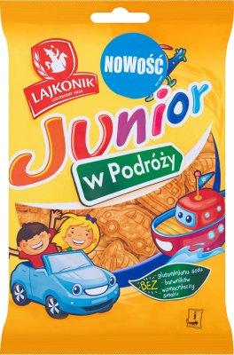 Lajkonik Junior w podróży Drobne pieczywo o smaku waniliowym