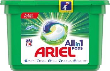Las cápsulas para Ariel lavado 3en1 Spring Mountain