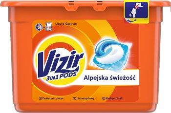 Vizir Kapsułki do prania do bieli i kolorów.Alpine Fresh