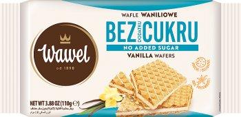 Wawel Wafle o smaku waniliowym bez dodatku cukru