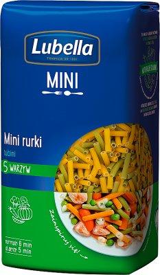 Lubella Makaron Mini rurki 5 warzyw Tubini