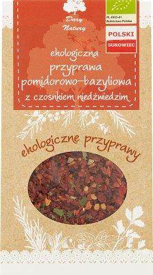 Dary Natury Ekologiczna przyprawa Pomidorowo-Bazyliowa z czosnkiem niedźwiedzim
