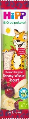 Batonik Owocowy Przyjaciel Banany Wiśnie Jogurt BIO