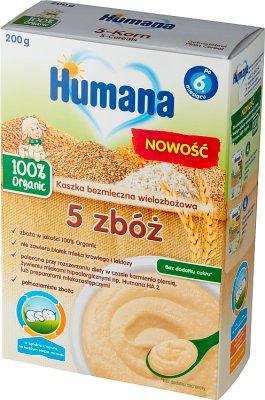 Humana 100% Organic kaszka bezmleczna 5 zbóż