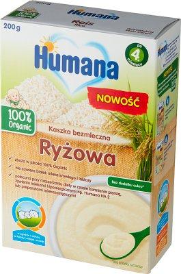 Humana 100% Organic kaszka bezmleczna ryżowa