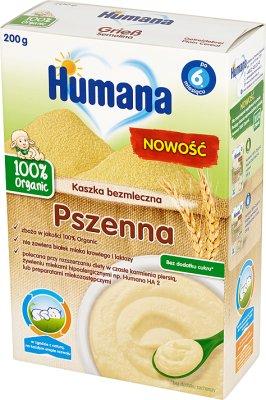 Humana 100% Organic kaszka bezmleczna pszenna