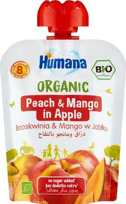 Humana 100% Organic mus jabłko-brzoskwinia-mango
