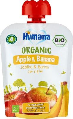 Humana 100% Organic mus jabłko-banan