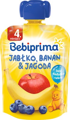 Bebiprima Mus owocowy Jabłko, banan & jagoda